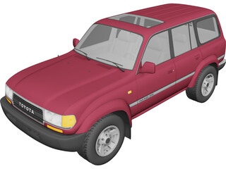 Toyota Land Cruiser J80 (1989) 3D Model