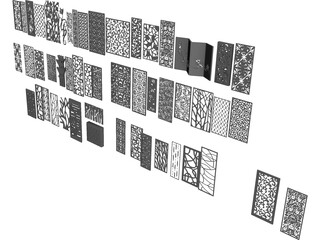 CNC Panels Collection 3D Model