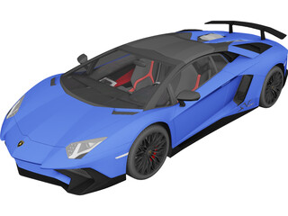 Lamborghini Aventador LP750-4 SV Roadster (2016) 3D Model 3D Preview