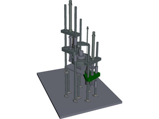 Terminal Tapping Machine CAD 3D Model
