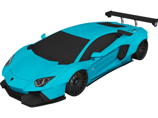 Lamborghini Aventador LB-Works 3D Model