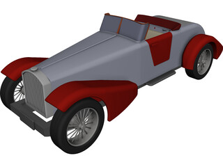 Classic Vehicle CAD 3D Model
