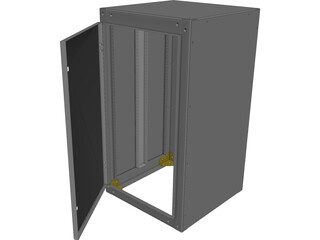 Electrical Cabinet CAD 3D Model