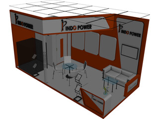 Exhibition Stand 3D Model 3D Preview