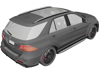 Mercedes-AMG GLE 63 S 4MATIC (2016) 3D Model