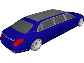 Mercedes-Maybach S600 Pullman 3D Model