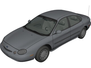 Ford Taurus (1996) 3D Model 3D Preview