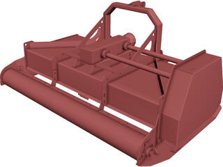 Mulcher CAD 3D Model