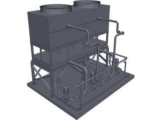 Cooling Water Module CAD 3D Model