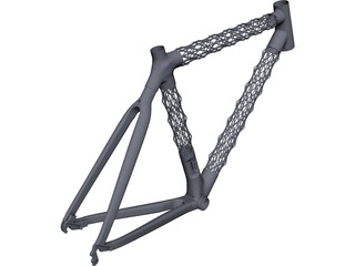 IsoTruss Road Bike Frame CAD 3D Model