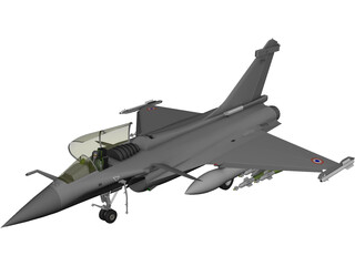 Dassault Rafale 3D Model 3D Preview