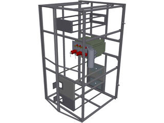 Electric Transformer Container CAD 3D Model