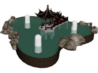 Pavilion On Pond 3D Model
