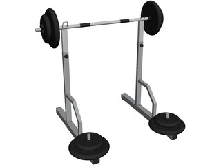 Barbell Gym 3D Model 3D Preview