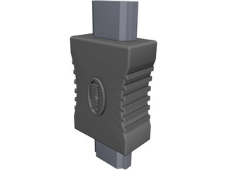 HDMI Connector CAD 3D Model