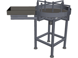 Rotary Table Feeder CAD 3D Model