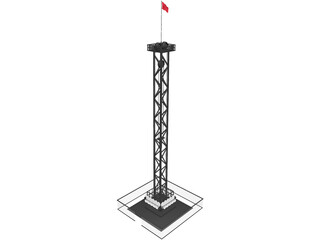 Rail Tower Extreme 3D Model