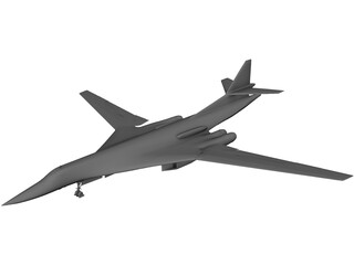 Tupolev Tu-160 3D Model 3D Preview