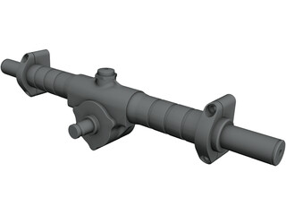 KAZ Technologies FSAE Steering Rack CAD 3D Model