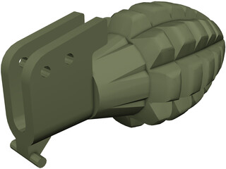 Pineapple Mk2 Grenade CAD 3D Model
