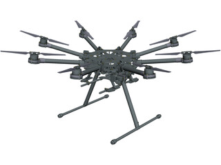 DJI S1000 Spreading Wings CAD 3D Model
