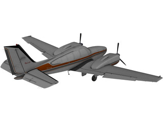 Beechcraft Baron 58 3D Model