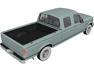 Ford F150 Crew Cab (1996) 3D Model 3D Preview