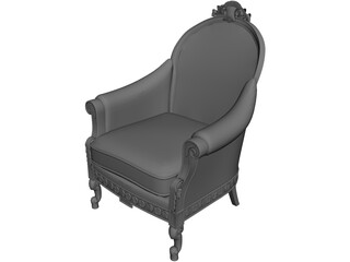 Antique Classic Armchair 3D Model