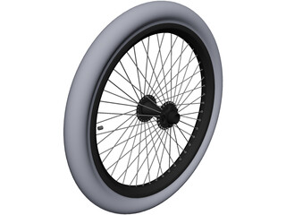 Bike Wheel 20-inch CAD 3D Model