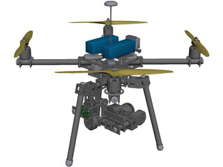 X4 Quadcopter CAD 3D Model