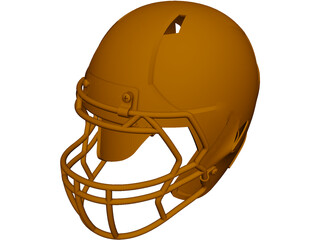 Football Helmet CAD 3D Model