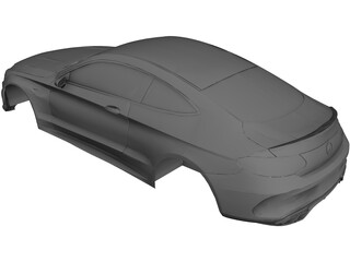 Mercedes-AMG C63 Coupe Body CAD 3D Model