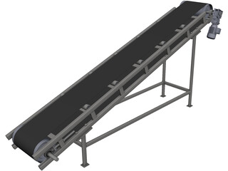 Belt Conveyor CAD 3D Model