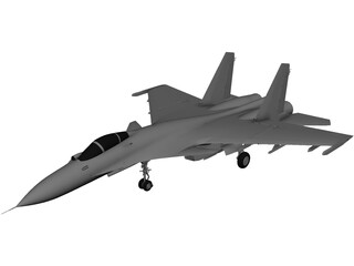 Sukhoi SU-33 Flanker-D 3D Model 3D Preview