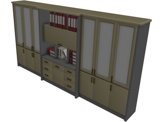 Cupboard 3D Model 3D Preview