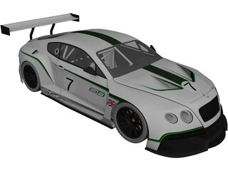 Bentley Continental GT3 3D Model