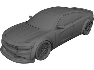 Dodge Charger RT Wide Body (2017) 3D Model