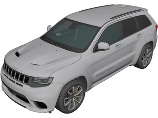 Jeep Grand Cherokee Trackhawk 3D Model
