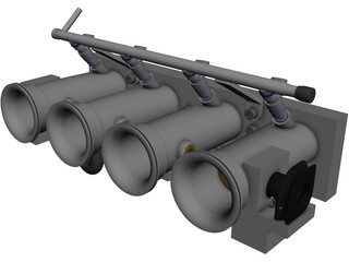 Custom ITB Manifold CAD 3D Model