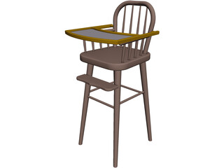 Baby Highchair 3D Model