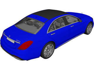 Mercedes-Benz S560 W222 4matic (2018) 3D Model