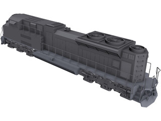 EMD SD70AC CAD 3D Model