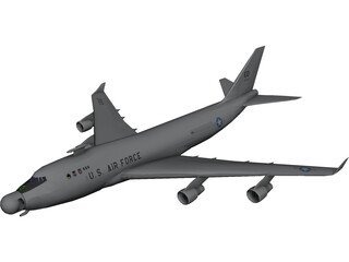 Boeing Airborne Laser YAL-1 3D Model 3D Preview
