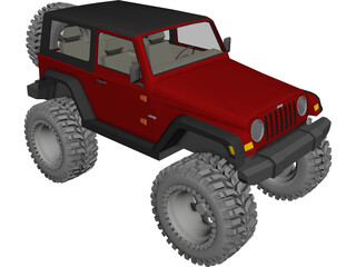 Jeep Wrangler TJ (2006) 3D Model 3D Preview
