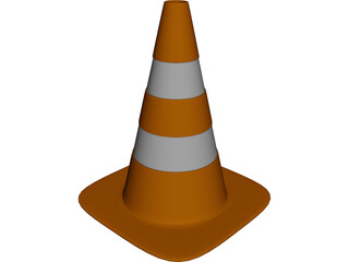 Traffic Cone 3D Model 3D Preview