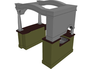 Kitchen Playhouse 3D Model