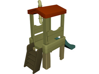 Treehouse Playset 3D Model