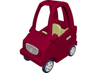Coupe Toy Car 3D Model