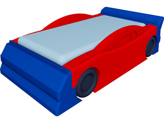 Race Car Bed 3D Model