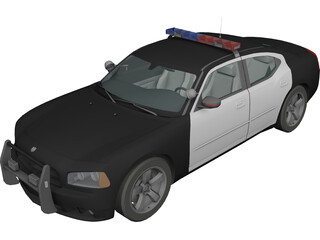 Dodge Charger Police Car (2007) 3D Model
